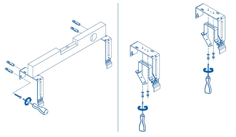 Assembly of the top gutter clamp