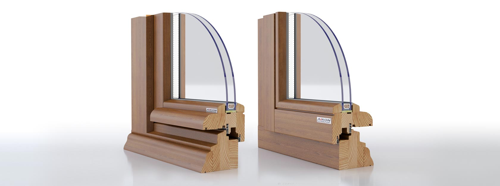 wooden windows Ecoline 68